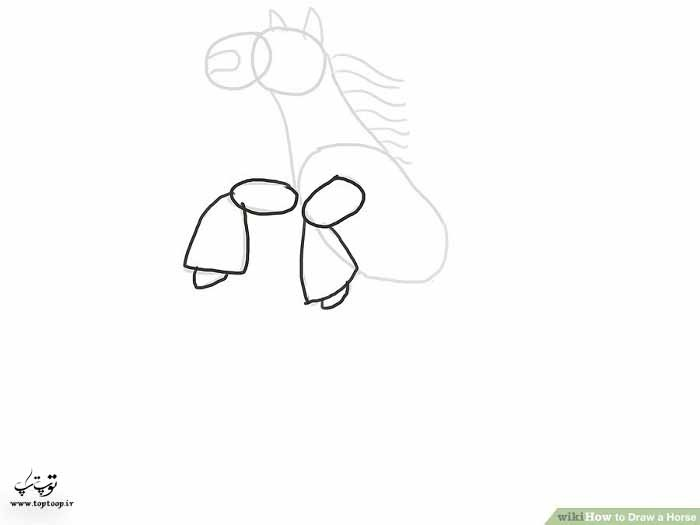 کشیدن یک اسب روی دوپا