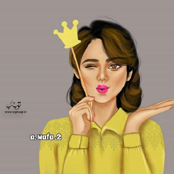 عکس نقاشی دخترونه برای پروفایل 2020 جدید