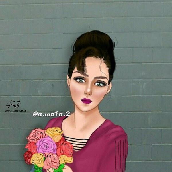 عکس نقاشی دخترونه 99 جدید