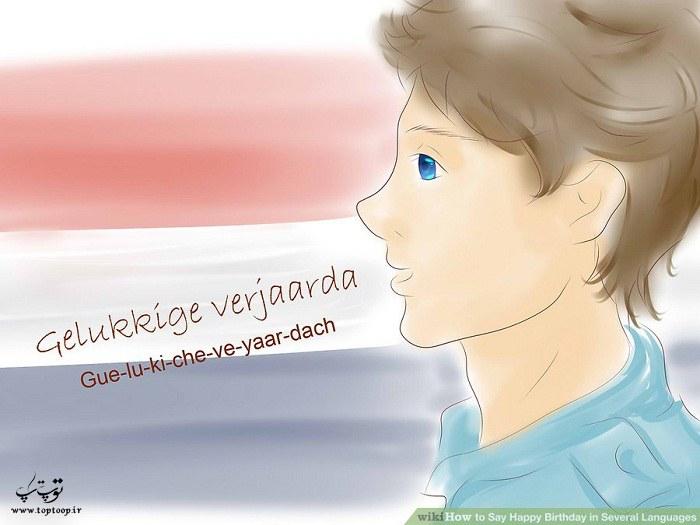 تولدت مبارک به زبان هلندی