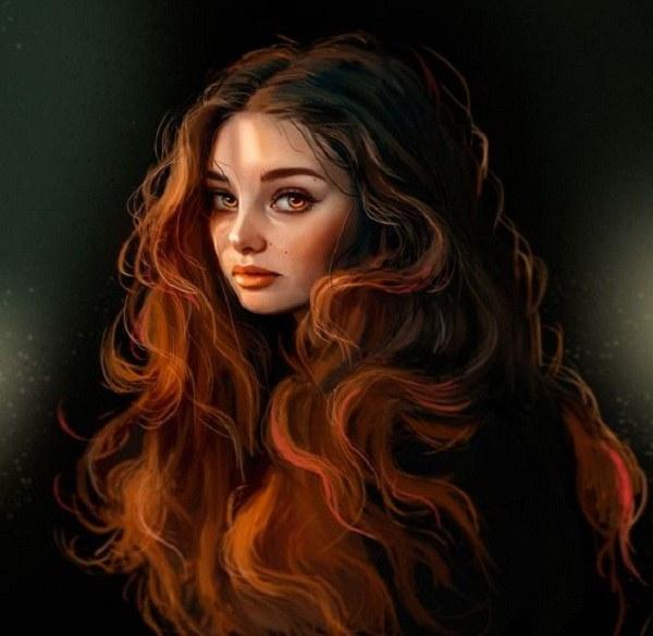 جدیدترین سری از عکس های فانتزی دخترانه نقاشی شده در سال 1399 ارسال شده توسط سایت توپ تاپ