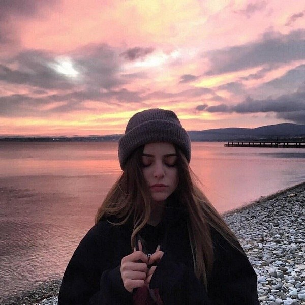 عکس پروفایل دخترونه در غروب آفتاب