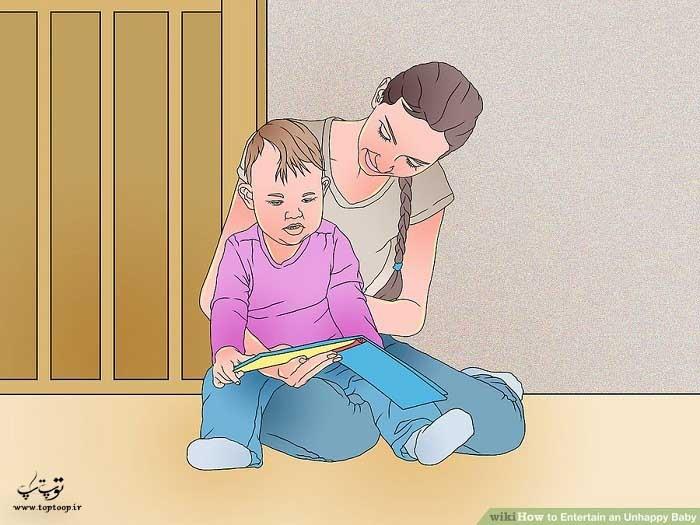 با کودک ناراحت کتاب بخوانید