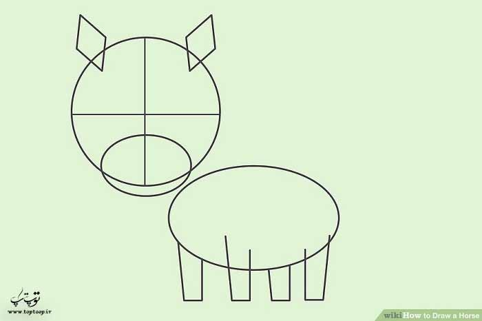 آموزش طراحی اسب کارتونی