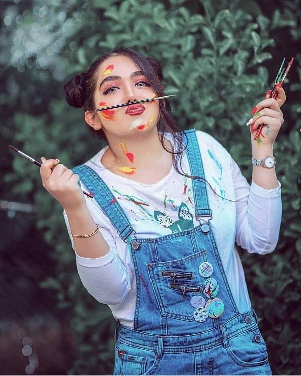 عکس ژست دخترانه هنری