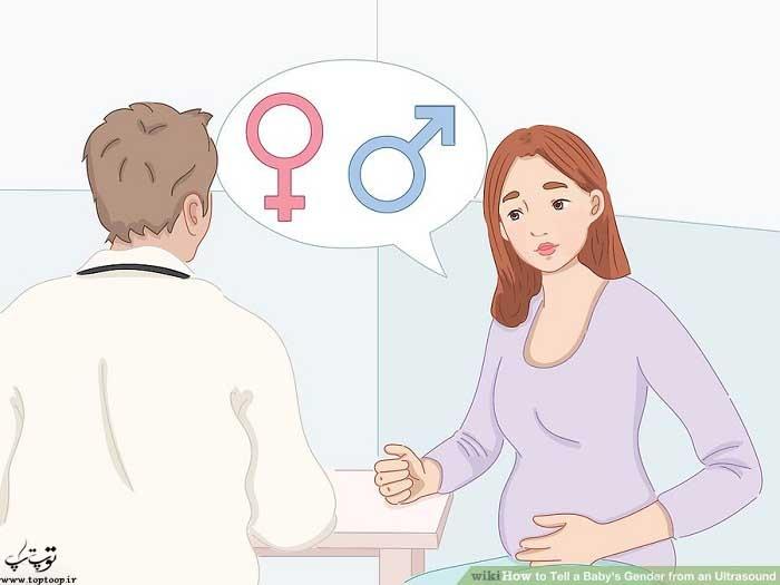 سوال در مورد جنسیت بچه در هفته های 11-12