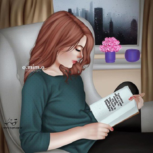 دخترونه فانتزی در حال درس خوندن