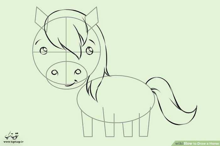 نقاشی اسب کارتونی
