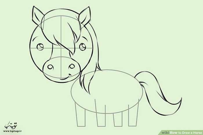آموزش تصویری طراحی یک اسب