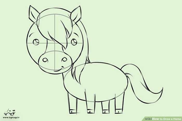 طراحی اسب کارتونی