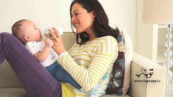 تعداد طبیعی آروغ نوزاد چند تاست ؟ تفاوت آروغ زدن در شیر مادر و شیشه شیر