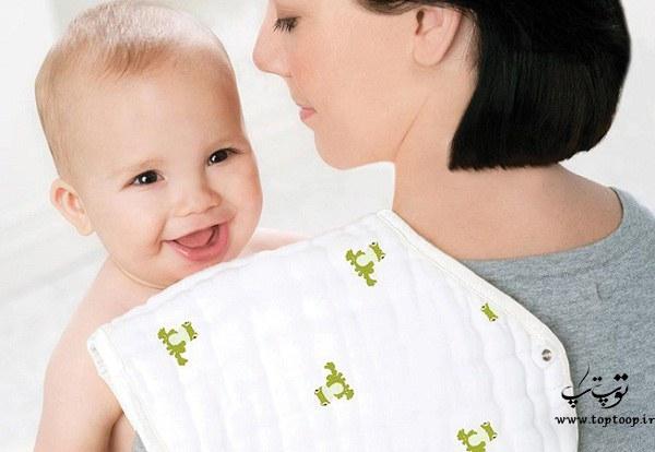 نوزادان چه زمانی آروغ می زنند؟