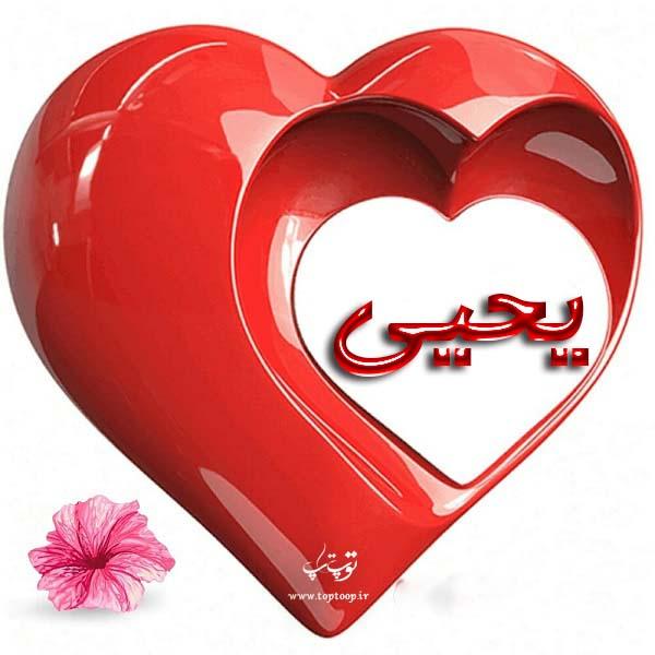 عکس قلب با اسم یحیی