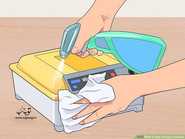 دستگاه جوجه کشی قابل شستشو و یا تمیز شدن