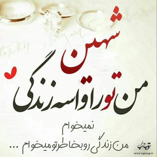 عکس نوشته های جدید اسم شهین