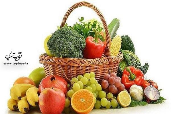 فیبر سبزیجات و میوه ها