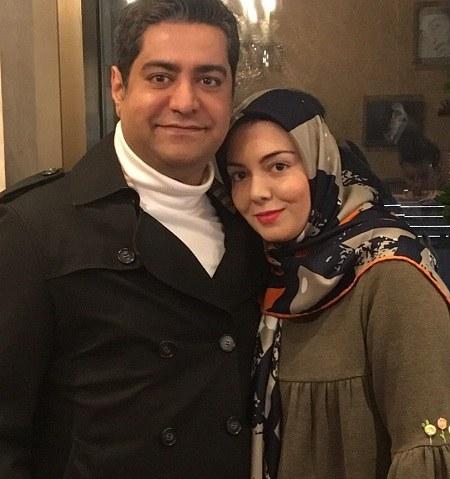 عکس آزاده نامداری و همسرش