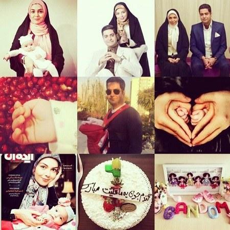 عکس های آزاده نامداری به همراه دخترش ، همسر و خانواده