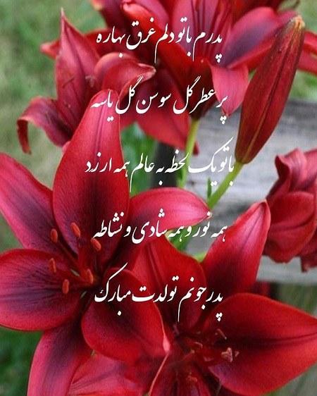 عکس نوشته بابایی جونم تولدت مبارک