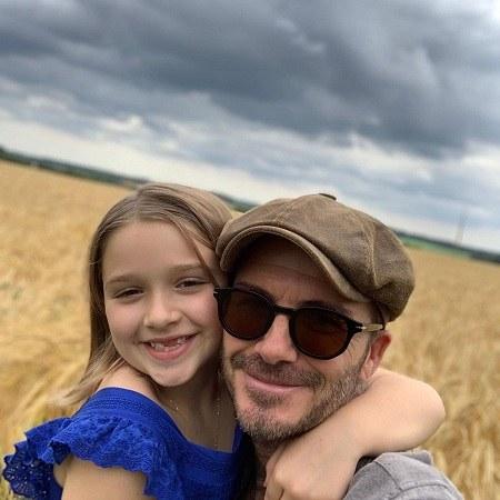 عکسهای خوشگل دیوید بکهام با دخترش