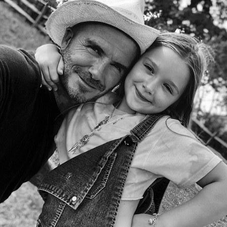 دیوید بکهام و دخترش عکس