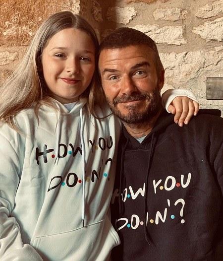 عکس دیوید بکهام و دخترش 2021 جدید