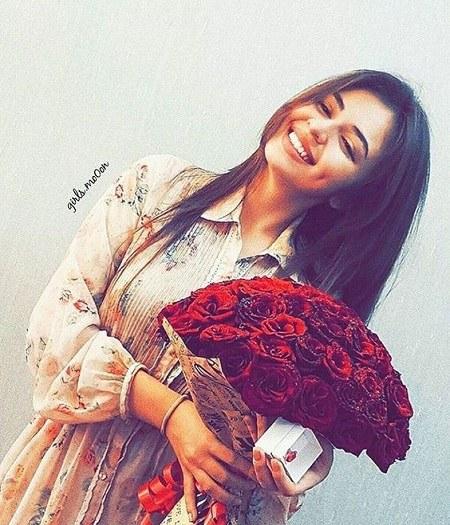 عکس پروفایل شاد دخترونه با گل