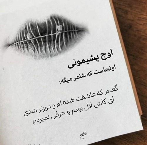 عکس نوشته پشیمانی سودی ندارد ، پشیمانی از محبت