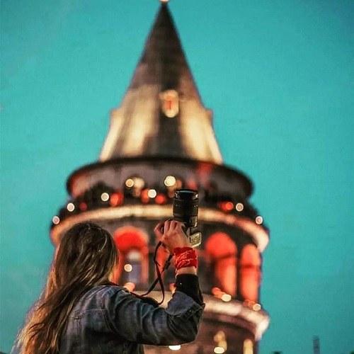 پروفایل دخترونه دوربین و برج ایفل زیبا