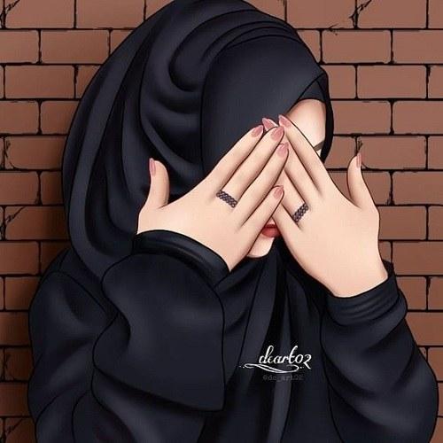 عکس نقاشی دخترونه باحجاب