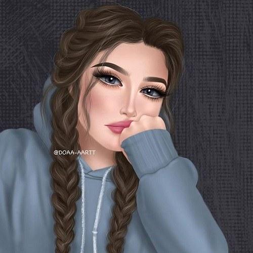 نقاشی دخترونه برای پروفایل 1400 جدید