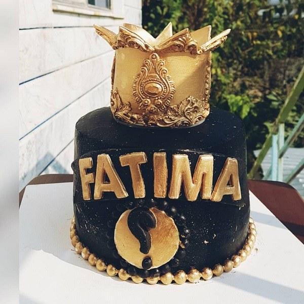 کیک تولد فاطمه سادات