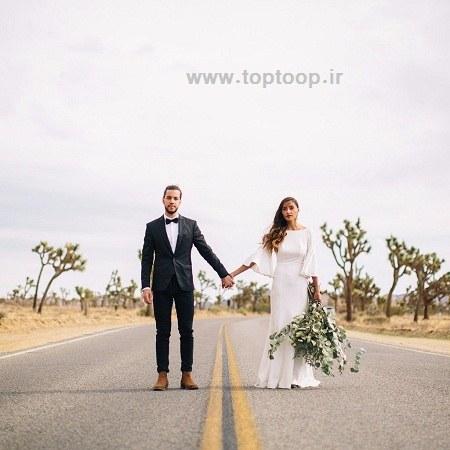 تعبیر خوب عروس و داماد کنار هم
