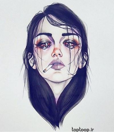 عکس پروفایل دخترونه گرافیکی