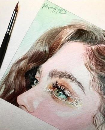 عکس پروفایل دخترونه با چشم های خیس