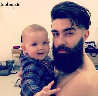 عکس پروفایل پسرم و باباش