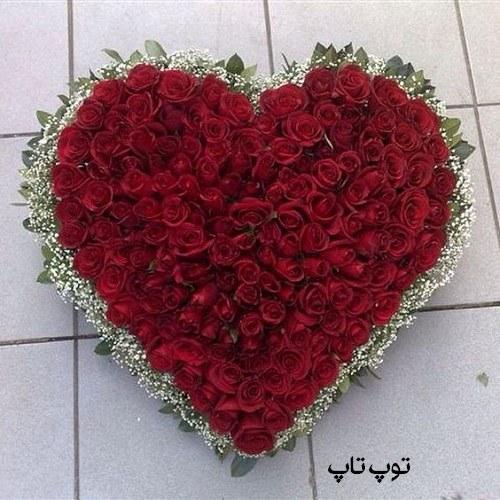عکس پروفایل گل با قلب + آلبوم تصاویر