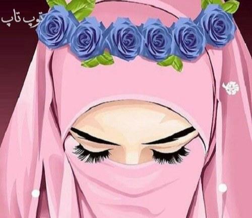 نقاشی دختر مذهبی و چشم درشت