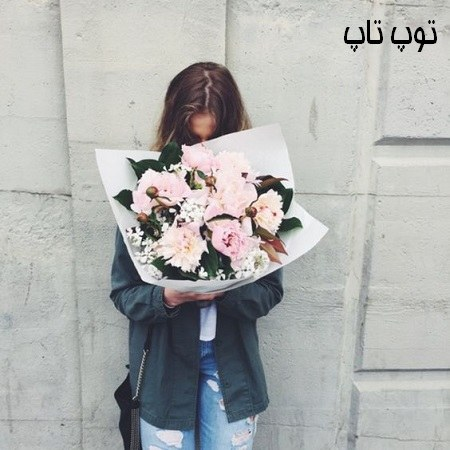 عکس دختر با گل برای پروفایل 2019 جدید