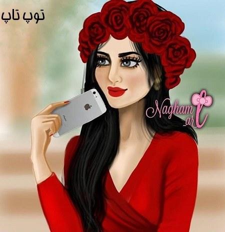 عکس ست پروفایل دخترونه با گل های سرخ