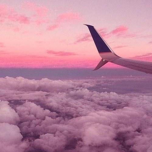 عکس منظره بر فراز ابرهای آسمان