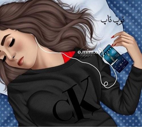 عکس پروفایل نقاشی شده دخترانه 98 جدید