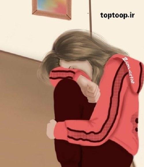 عکس پروفایل اسپرت دخترانه با لباس ورزشی که قهر کرده و سرش رو پاهاشه