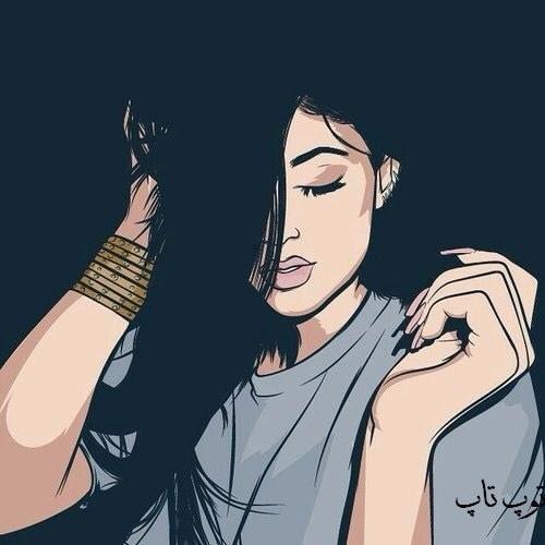 عکس نقاشی شده از صورت دختر خوشگل خارجی