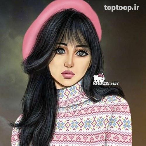 عکس دختر خوشگل کارتونی برای پروفایل اسپرت دخترونه