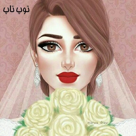 عکس پروفایل دخترانه همراه با دسته گل رز قشنگ