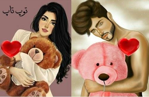 عاشقانه تصاویر نقاشی شده برای پروفایل دخترانه 2 نفره