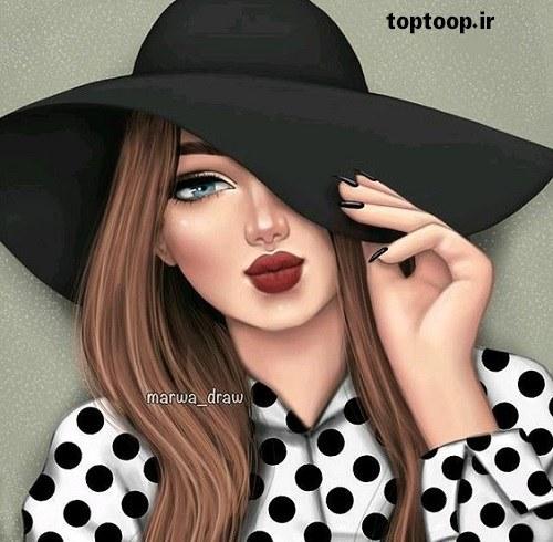 عکس پروفایل دخترونه اسپرت با کلاه 98 جدید