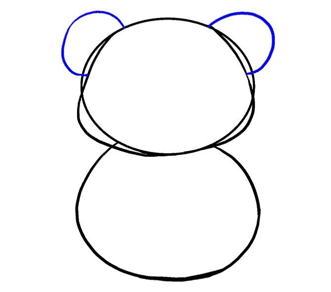 نقاشی آسان پاندا برای بچه ها
