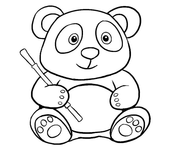 آموزش نقاشی پاندا